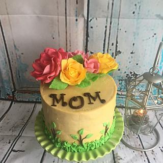 Mother`s day cake