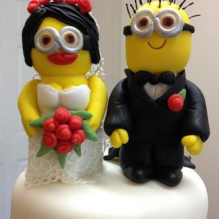 Minion Bride and Groom