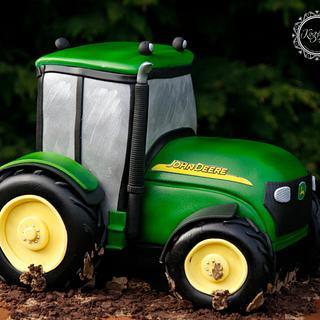 John Deere Tractor - Cake by kingfisher