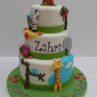 3 tier Animal cake