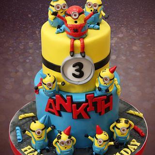 Minions theme cake