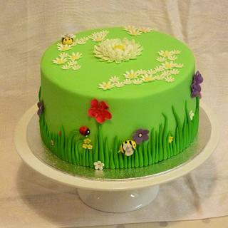 Garden themed Father's Day cake