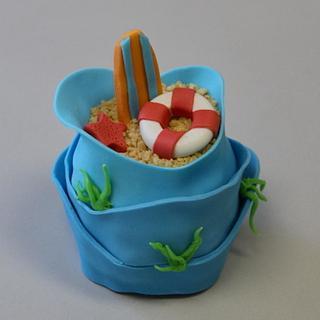 Beach & Surf mini cakes Tutorial