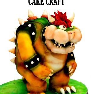 Supermario - Bowser - Cake by Janette MacPherson Cake Craft