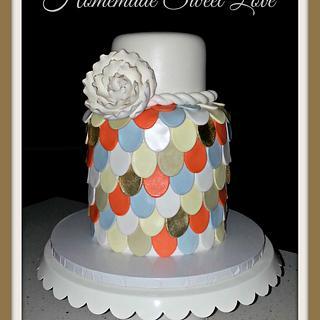 Multicolor Scallop cake