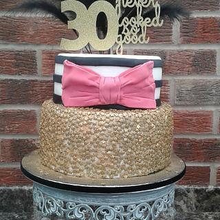 Glitz and Glamour - Cake by Karen's Kakery