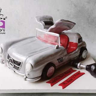 Mercedes Benz car cake