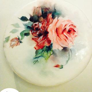 Hand paint Roses