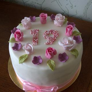flower cake - Cake by Jiřina Matějková