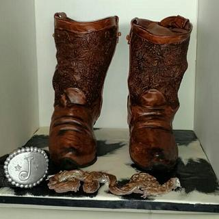 Cowboy Boots Cake