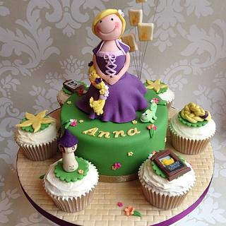 Rapunzel cake & cupcakes - Cake by Sugar Sweet Cakes