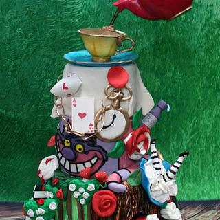 Alice in Wonderland Birthday Cake  - Cake by Niamh Geraghty, Perfectionist Confectionist