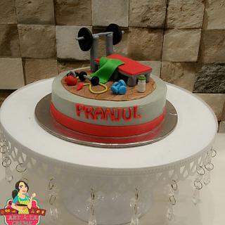 Gym theme cake