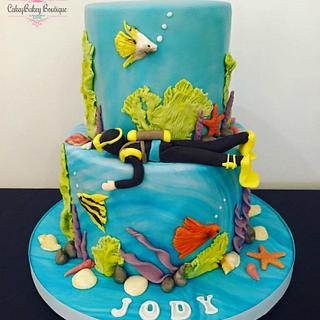 Diving Cake - Cake by CakeyBakey Boutique