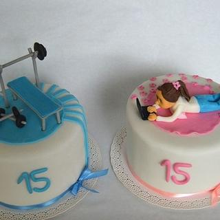 Amazing Birthday Cakes For Twins 3 Cakes Cakesdecor Personalised Birthday Cards Veneteletsinfo