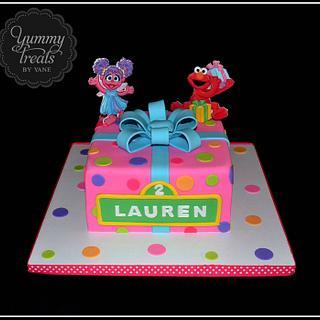 Abby and Elmo Cake!