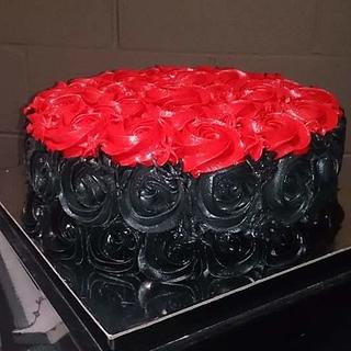Rose Cake and Rose Cupcakes - Cake by Allyson Thornley