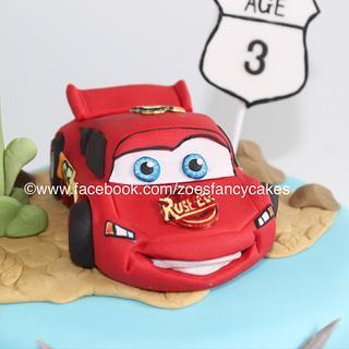 Lightning Mcqueen - Cake by Zoe's Fancy Cakes