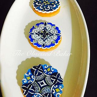 Blue Pottery Cookies