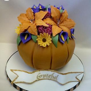 Pumpkin Centerpiece Cake - Cake by Nizelle Olivo