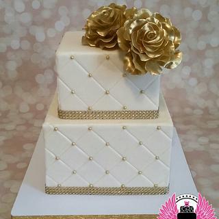 Gold Glitz Wedding Cake