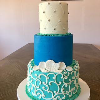 Elegant Nautical Birthday Cake