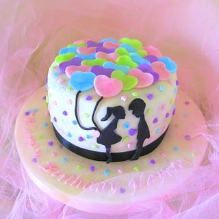 Balloons Lovers cake