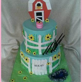 Fishing on the farm cake - Cake by Sweet ObsesShan