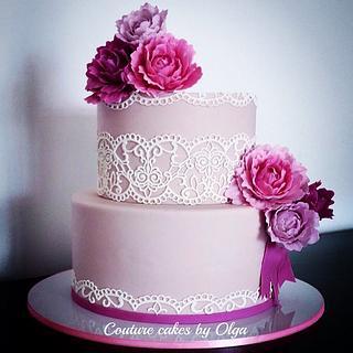 Peonies bd cake