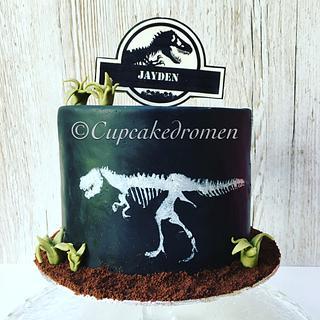 Dinosaur T-Rex cake