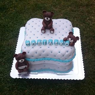 Christening cake for boy