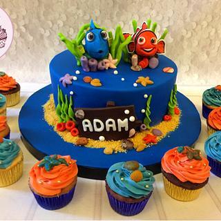 Dory & Nemo Cake 🐠🐟