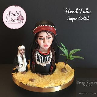 """AMNA"" The Nightingale Prayer Movie- Egyptian Movies Collaboration  - Cake by Hend Taha-HODZI CAKES"
