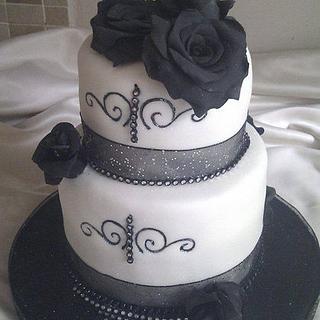 Art Deco themed Wedding Cake