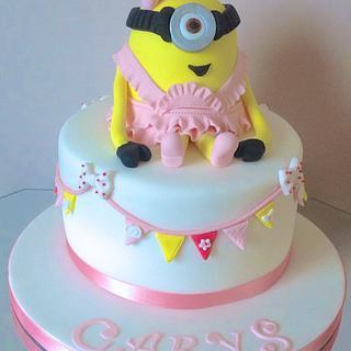 Pretty Minion cake