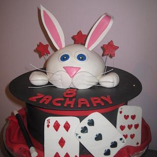 Magic Bunny Hat Cake