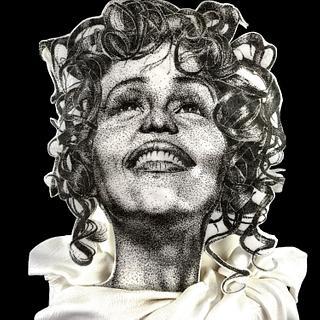Whitney Houston Pointillism Cake