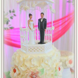 Island Destinaion Wedding Cake