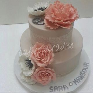 engagement cake  - Cake by cakesparadise2012