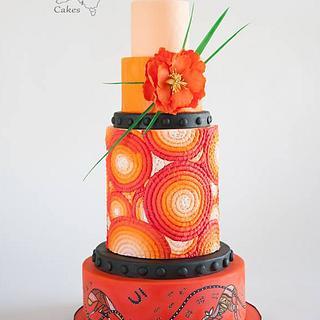 Cake Masters Ombre Orange cake