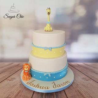 x Animal Christening Cake x  - Cake by Sugar Chic