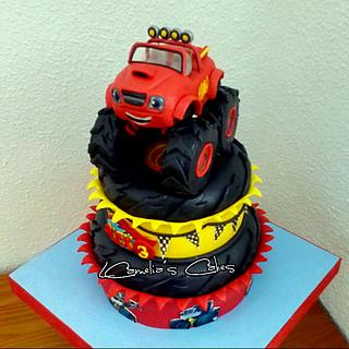 BLAZE AND THE MONSTERS MACHINES CAKE