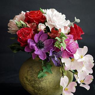 Bouquet flowers - Cake by Katarzynka