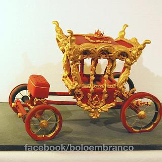 Royal Carriage (Coche Real) - Cake by Bolo em Branco [by Margarida Duarte]