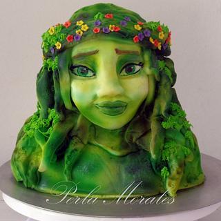 Te fiti of Moana cake