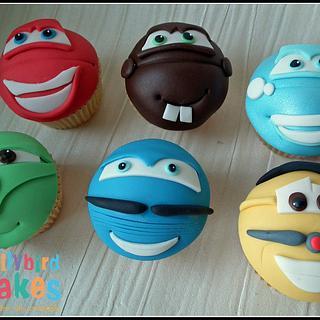 Car's themed cupcakes