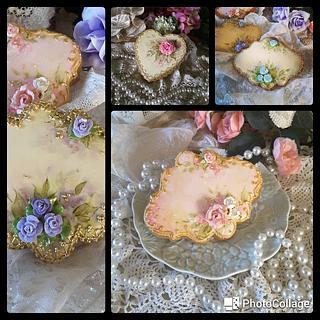 Hand painted and piped keepsake cookies  - Cake by Teri Pringle Wood