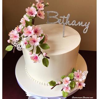 Cherry Blossom Beauty - Cake by Tammy LaPenta