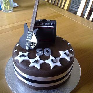 Rickenbacker guitar & amp - Cake by sas