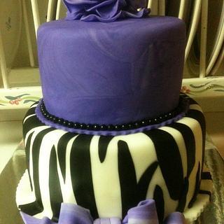 Purple Zebra Print Cake